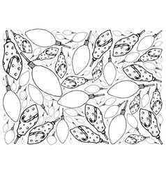 Hand drawn of lovely christmas lights background vector