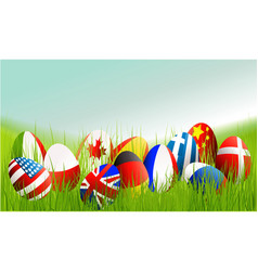 International easter eggs vector