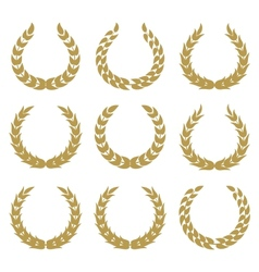 laurel wreaths 1 vector image vector image