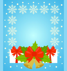 New year and christmas background card blue vector