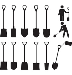 People with shovels vector image