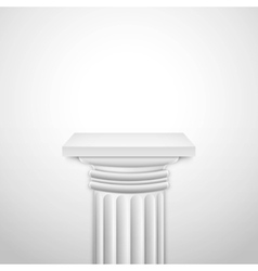 Realistic Classic Empty White Column vector image vector image