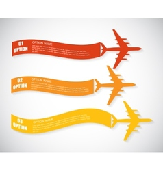 Retro airplane banner vector
