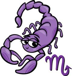 scorpio zodiac sign cartoon vector image vector image