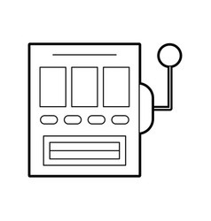 Slot machine isolated icon vector
