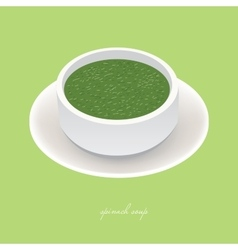 spinach soup vector image vector image