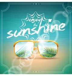 Summer holiday design with sunglasses vector