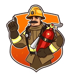 with the fire extinguisher vector image