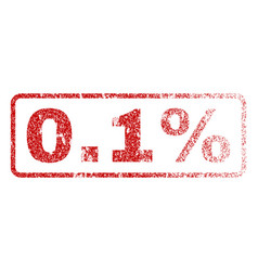 01 percent rubber stamp vector