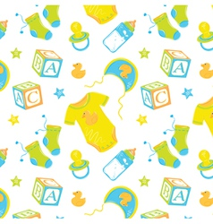 Pattern childrens clothes vector