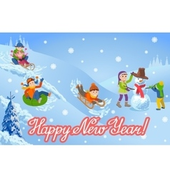 New year congratulation vector