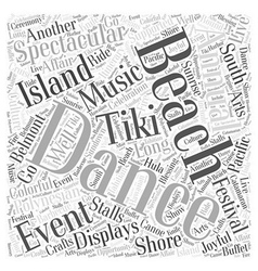 Long beach events word cloud concept vector