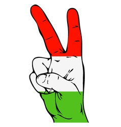 Peace sign of the hungarian flag vector