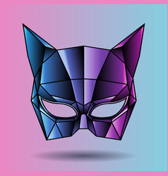 colored mask superhero woman vector image