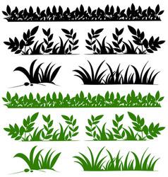 doodles design for grasses vector image