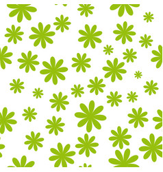flowers seamless pattern vector image