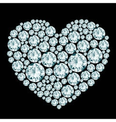 Heart diamond composition vector