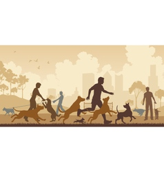 Dog park vector image