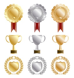 Gold rosettes vector