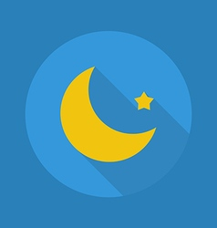 Weather flat icon moon vector