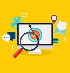 Social media flat modern design concept local vector