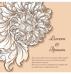 Floral invitation card template vector