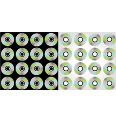 compact discs pattern vector image