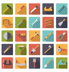 Crafting tools flat design icons collection vector