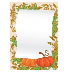 Autumn and pumpkin background vector