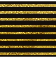 Golden striped seamless pattern set vector image