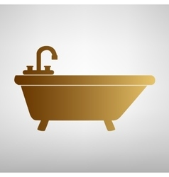 Bathtub sign flat style icon vector