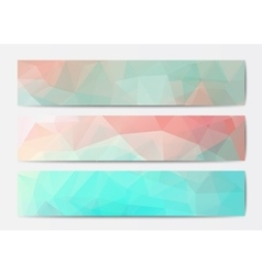 Abstract banner templates vector