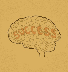 Brain Success vector image vector image