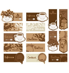 coffee card vector image vector image