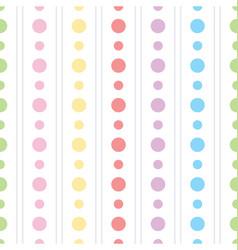 colorful polka dots pattern vector image vector image