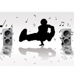 dance music vector image vector image