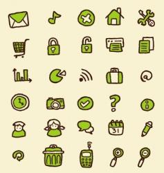 doodle web icon vector image vector image