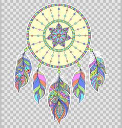 Dreamcatcher on transparent background vector