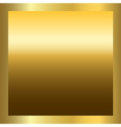 Gold texture square golden frame vector image