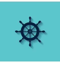 marine steering wheels l icon vector image vector image