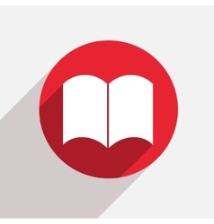 modern book red circle icon vector image vector image
