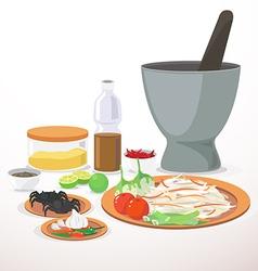 papaya salad vector image vector image
