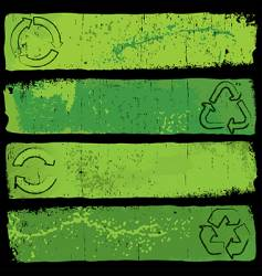 Recycle banners vector