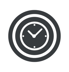 Round black clock sign vector