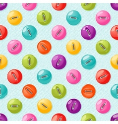 Seamless pattern with cute colorful buttons vector image vector image