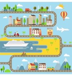 Small town cityscape vector