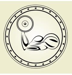 Strong flex arm icon vector