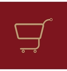 The shopping cart icon shopping cart flat vector