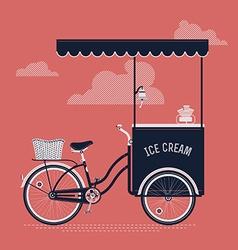 Vintage ice cream cart vector
