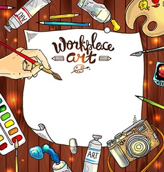 workplace art vector image